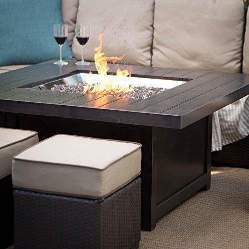 Napoleon St. Tropez Patioflame 48-inch Propane Gas Fire Table With Glass Embers By Napoleon - Square - Gpfts48bz