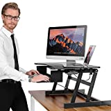[NEW]Height-adjustable Standing Desk,SMONET Healthy Sit-stand Desktop Computer Workstation | Raising and Lowering to Various Positions for Comfort (Black)