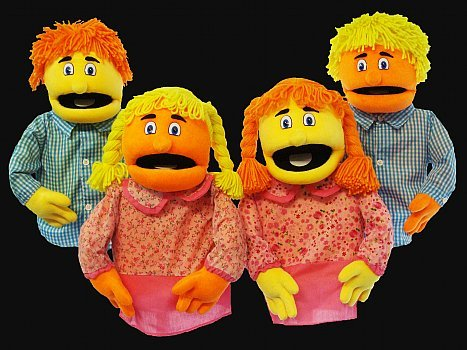Sparkle Family Blacklight Puppets