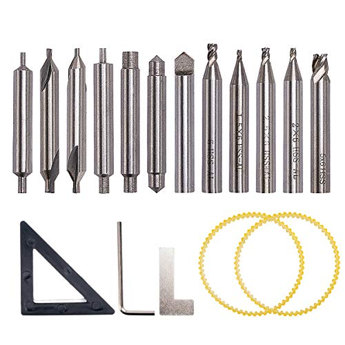 ZUINIUBI HSS Milling Cutter Drill Bit Set Locksmith Tools Vertical Spare Parts for Key Cutting Machine ()