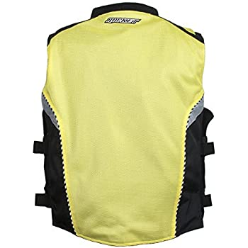 Joe Rocket Military Spec Mens Yellow//Black Mesh Vest Large//X-Large