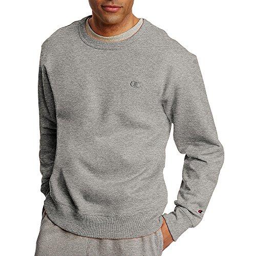 Champion Men's Powerblend Fleece Pullover Sweatshirt_Oxford -