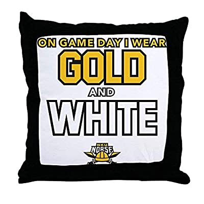 FiuFgyt Northern Kentucky NKU Norse Gold White Funny Throw Pillow Case Decorative Cushion Cover Sofa Couch 18 x 18