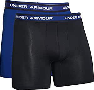 Under Armour Mesh 6 Inch Boxer Shorts (2-Pack) - AW15 - Small - Black
