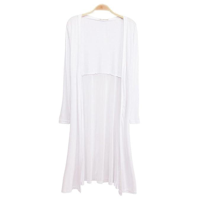 c7423a6a52f77 Boho Beach Chiffon Long Cardigan,Foutou Women Kimono Coat Tops Kaftan Maxi  Soild Coat (