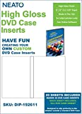 NEATO High Gloss DVD Case Inserts -20 Pack - DIP-192611 - Online Design Access Code Included