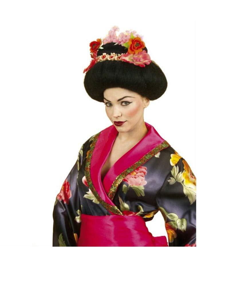 Horror-Shop Peluca Geisha con flores: Amazon.es: Juguetes y ...