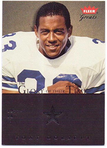 (Tony Dorsett 2004 Fleer Greats of the Game Glory of Their Time #15 GOT - 0090/1981 - Dallas Cowboys)