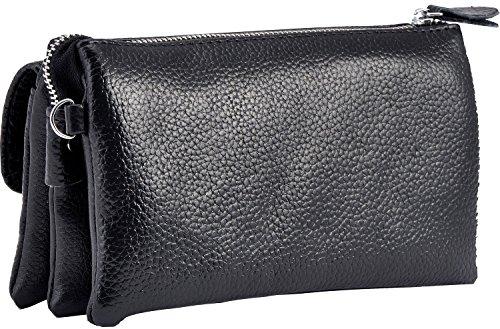 Bag Genuine Leather Soft Purse Aibag Orange Wristlet Clutch xf4AnYWz
