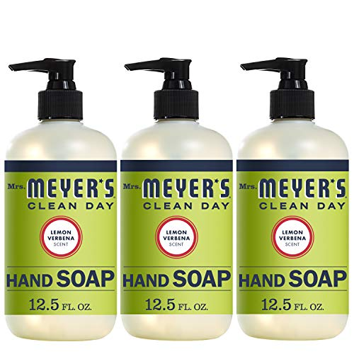 Mrs. Meyer's Clean Day Liquid Hand Soap, Lemon Verbena Scent, 12.5 fl oz (Pack of 3) (Pack of -