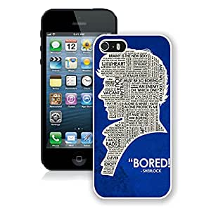 Personalized Sherlock Holmes iPhone 5 5s 5th Generation Phone Case in White