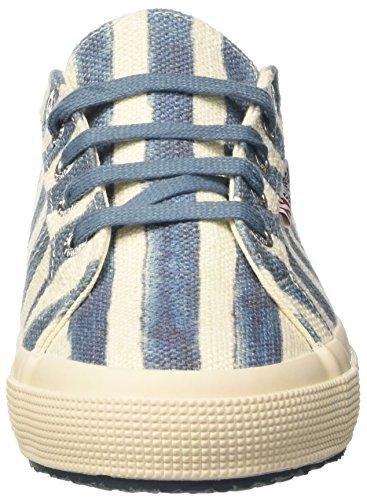 Superga 2750-Linstripesw, Zapatillas de Estar por Casa para Mujer Multicolore (Off White/Azure)