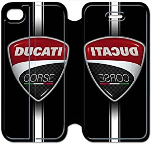 iPhone 4 4s Cell Phone Case Ducati Corse Logo Colorful Printing Leather Flip Case Cover 3ERT490369