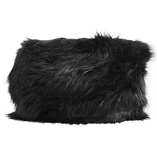 Expo IR8102BK-10 10 yd of Faux Fox Fur Trim, Black