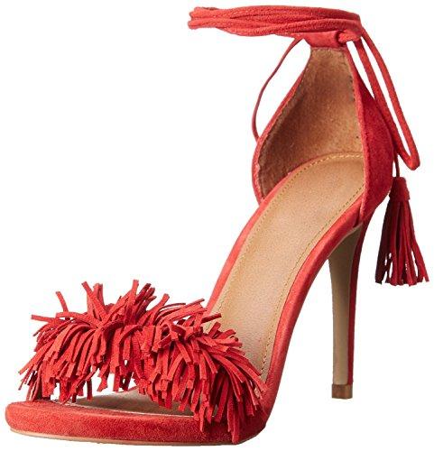 Open Taille Cheville Rouge Femmes Toe Grande Chaussures Sandales Ubeauty Dentelle Stilettos Boucle Laçage qxUFnXf
