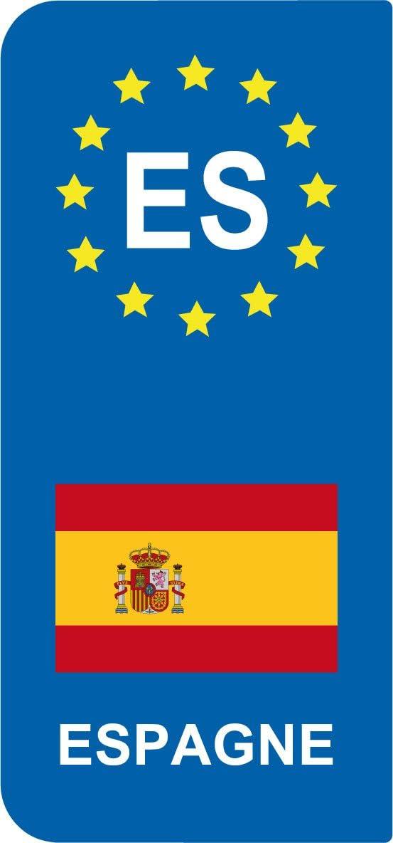 SAFIRMES Pegatinas, 2 unidades, diseño de matrícula de España ...