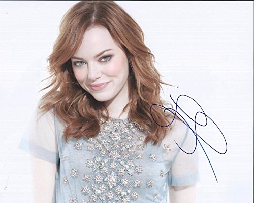 Emma Stone Signed Autographed 8x10 Photo Sexy Pose The Amazing Spiderman C