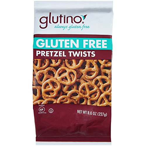 Glutino Gluten Free Pretzel Twists, 8-Ounce Bags (Pack of 12)
