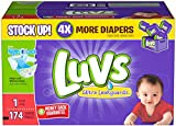 Health & Personal Care : Luvs Ultra Leakguards Diapers-Size 1-174 Count