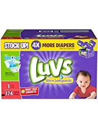 Luvs Ultra Leakguards Diapers-Size 1-174 Count BOBEBE Online Baby Store From New York to Miami and Los Angeles