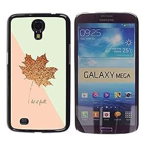 iKiki Tech / Estuche rígido - Leaf Fall Canada Gold Pink Autumn - Samsung Galaxy Mega 6.3 I9200 SGH-i527