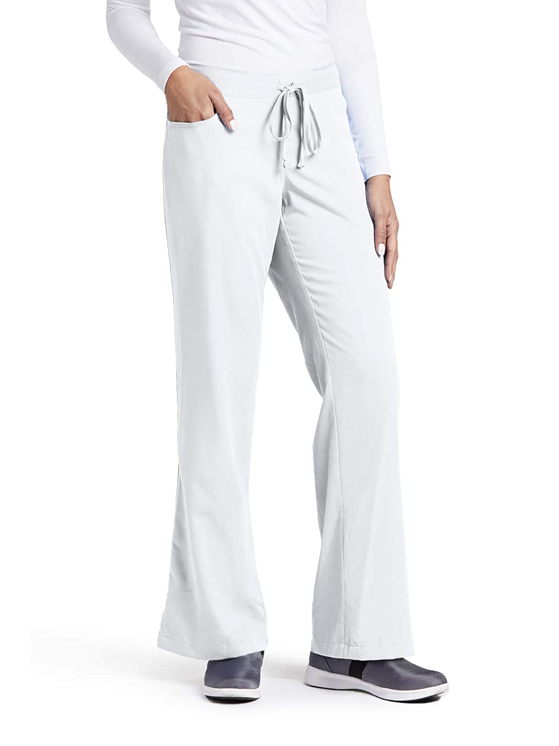 Grey\'s Anatomy 4232 Tie Front Pant White XS Tall
