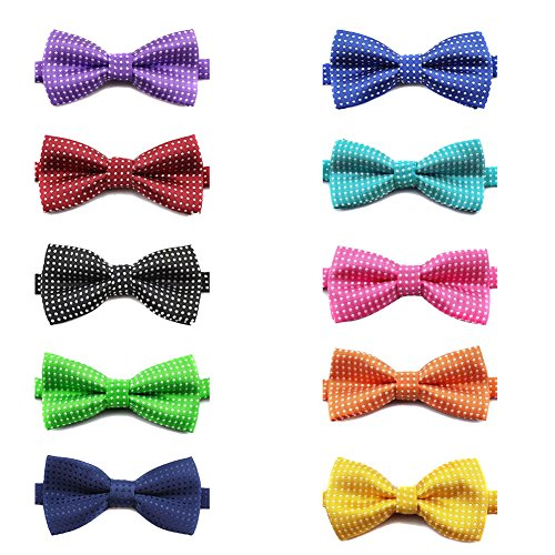 TOPTIE Pet Bow Tie Collar, Dog Grooming Accessories, 10 PCS Assorted-Set C