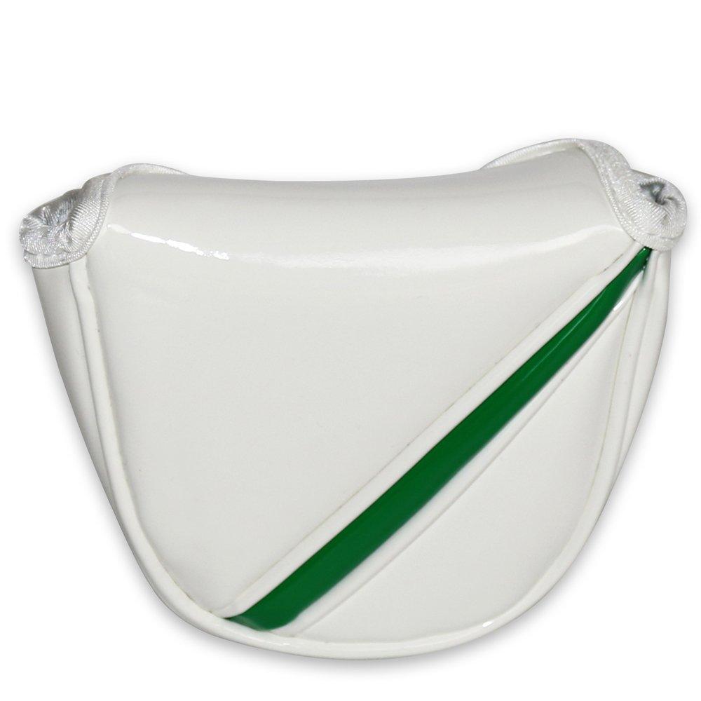 明るいレザーゴルフMalletパターカバーのテーラーメイドOdyssey Callaway Titleistセンター&ヒールシャフトPutters B077KG3XFG ホワイト ホワイト