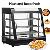 SUNCOO 26'' Commercial Countertop Hot Food Warmer Display Case for Restaurant Heated Cabinet Pizza Empanda Pastry Patty