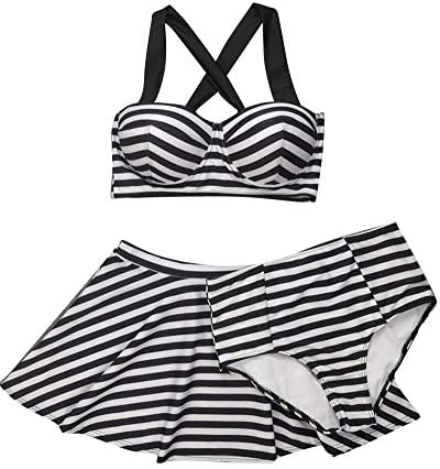 Dames Vrouwen Badpak Badmode Een Stuk Rok Bikini Streep Mode Merken Shorts Sets Vrouwen Badpak Mode Strand Badpak