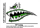 World War 2 Flying Tiger Fighter Teeth Tiger Teeth Green new Suzuki GSXR Yamaha YZF Honda CBR Kawasaki Ninja Motorcycle Sportbike Decal STicker