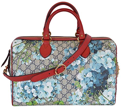 Gucci Women's GG Supreme BLOOMS Convertible Boston Bag (Gucci Original Gg Canvas)