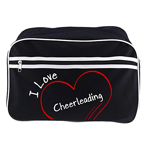 Retrotasche Modern I Love Cheerleading schwarz