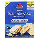Atkins Protein Wafer Crisps - Lemon Vanilla (Pack of 36)