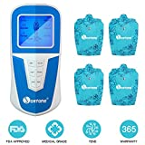 FDA Pulse Massager TENS Unit,EC Vision Portable Large Screen Voice Broadcast Professional Body Muscle Stimulator Machine for Pain Relief with Easy Operating 6 Modes