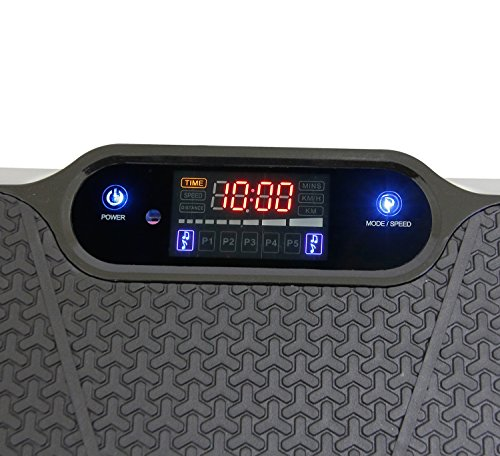 Clevr Upgraded Ultraslim Crazy Fit Full Body Vibration Platform Massage Machine, Remote Controlled, 180 Speed Levels, Built-in Blue Tooth Speaker, Max User Weight 330lbs, Black by Clevr (Image #4)