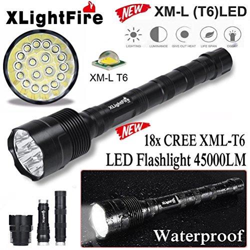 DZT1968 XLightFire 45000 Lumens 18x CREE XML T6 5 Mode 18650 Super Bright Anti-abrasive LED Flashlight