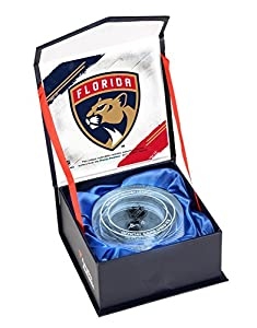 Florida Panthers Crystal Puck - Filled With Ice From the 2017-18 NHL Season - Fanatics Authentic Certified