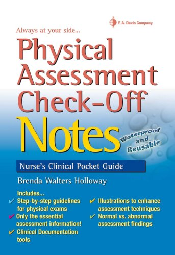 Physical Assessment Check-Off Notes Nurse's Clinical Pocket Guide (Nurse's Clinical Pocket Guides) Pdf