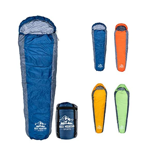 10 Degree To 32 Degree F Mummy Sleeping Bag For Camping Tall Sleeping Bag With Hood For Cold Weather Camp Gear For Hiking And Backpacking