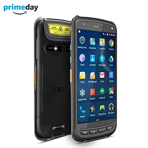 Android Rugged Terminal NFC MUNBYN Industiral Moblie PDA with 2D QR Zebra Barcode Scanner with 4G WiFi GPS BT Wireless Data Collector Support Loyverse POS Software, WMS