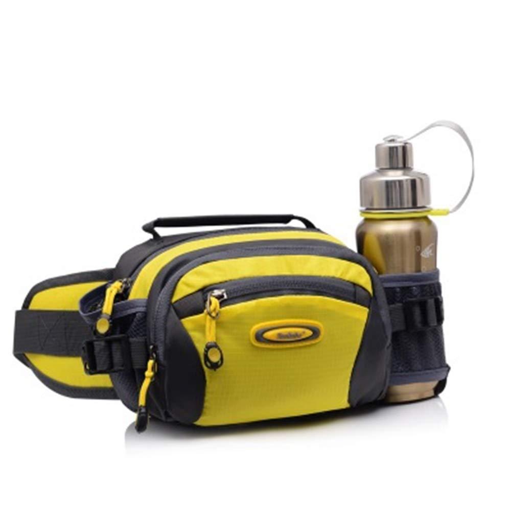 Cdon ウエストバッグ ウエストパック 調節可能なストラップ 水筒ホルダー付き One Size イエロー B07Q5R55C4