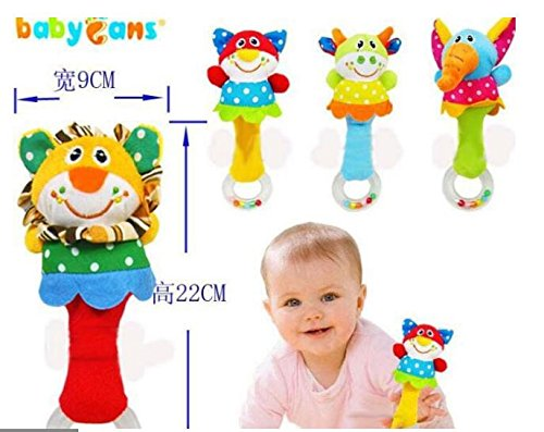 [4 PCS Newborn Handle Grasp Baby Rattle Plush Dolls Musical Toy for Development; Stuffed Animal Dolls Ring Rattle Plastic Free, safe for babies. Perfect gift for Baby Showers] (Winnie The Pooh Costume Ideas)