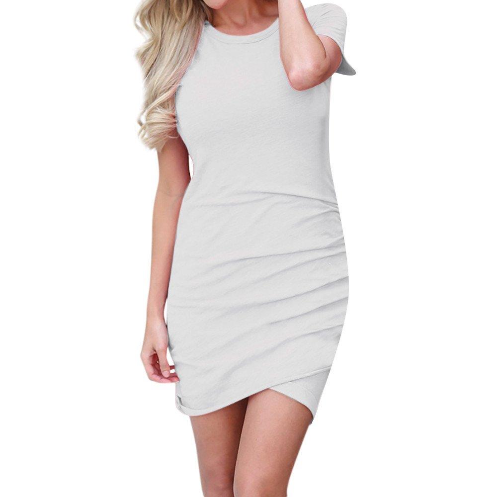 Kaitobe Womens Tops Short Sleeve Summers Sexy Bodycon Wrap Dress Casual Long Skirt Sundress for Teen Girls