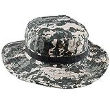 squaregarden Military Camo Adjustable Boonie Hat Hunting Bucket Hats / US ACU Digital Camo