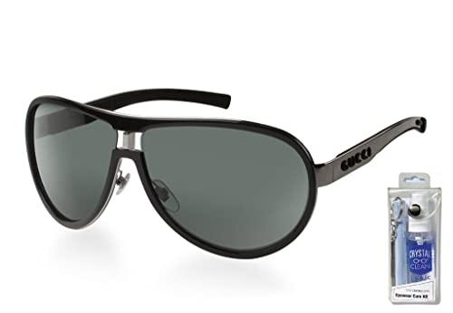 8972b89f102 Gucci 1566 S 0REE 95 Black Ruthenium Gray Aviator Sunglasses Bundle-2 Items