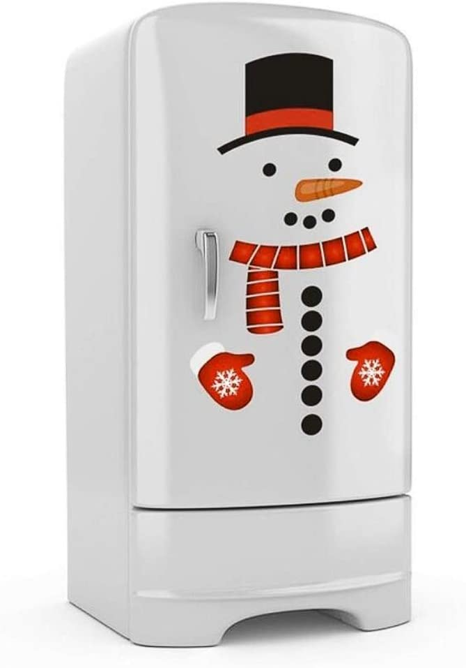 Christmas Snowman Refrigerator Magnets Cute Snowman Fridge Magnet PVC Stickers Decal - Christmas Home Decorations Supplies