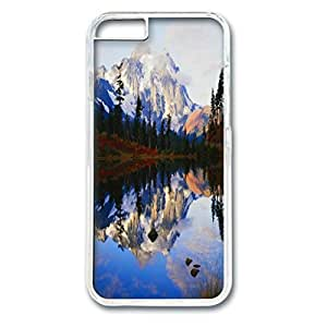 Snow Mountain Customized Design PC Transparent Case for Iphone 6 Beautiful Scenery