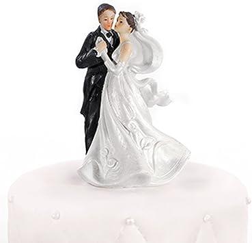 Fashion Tortenfigur Hug Brautpaar Tortenaufsatz Hochzeitstorte Tortendeko