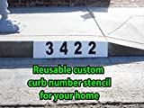 Curb Address Number Stencil, Custom for you